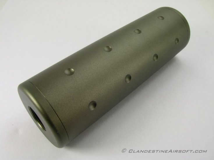 ZCI 110mm Barrel Extension - Green - Click Image to Close