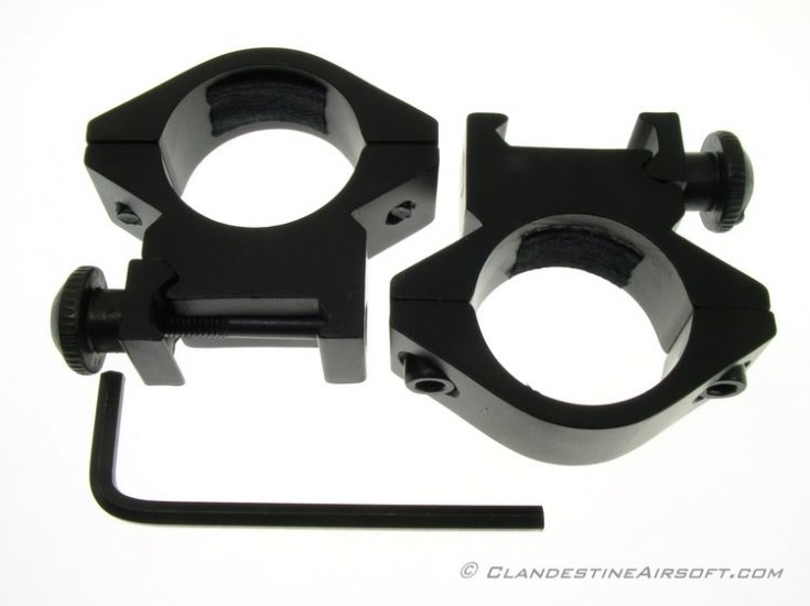 Short Scope Rings w/shim kit - Click Image to Close